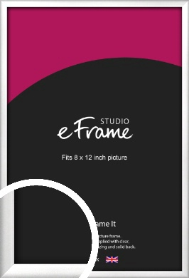 Frosted Chrome Silver Picture Frame, 8x12