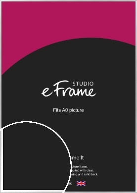 Frosted Chrome Silver Picture Frame, A0 (841x1189mm) (VRMP-A046-A0)
