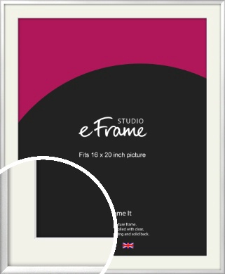 Frosted Chrome Silver Picture Frame & Mount, 16x20