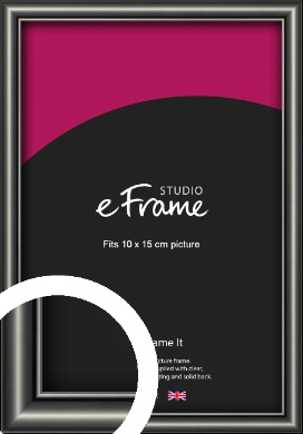 Simple Rounded Black Picture Frame, 10x15cm (4x6