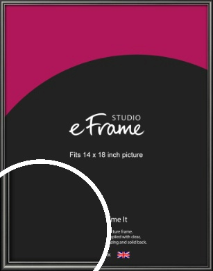 Simple Rounded Black Picture Frame, 14x18