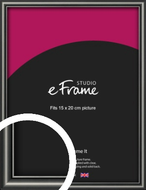 Simple Rounded Black Picture Frame, 15x20cm (6x8