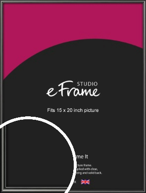 Simple Rounded Black Picture Frame, 15x20