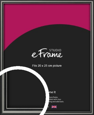Simple Rounded Black Picture Frame, 20x25cm (8x10