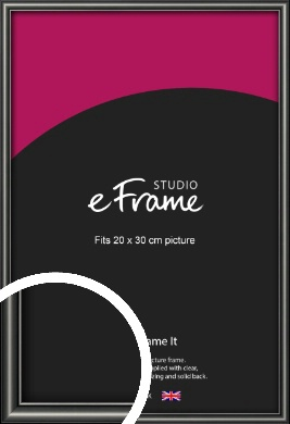 Simple Rounded Black Picture Frame, 20x30cm (8x12