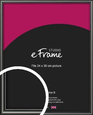 Simple Rounded Black Picture Frame, 24x30cm (VRMP-A047-24x30cm)