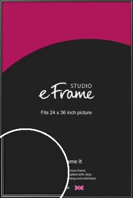 Simple Rounded Black Picture Frame, 24x36