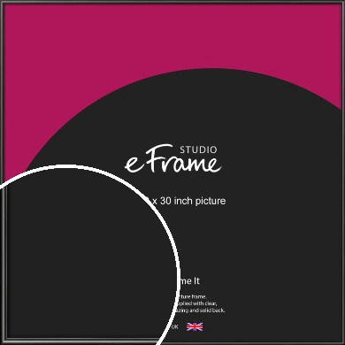 Simple Rounded Black Picture Frame, 30x30