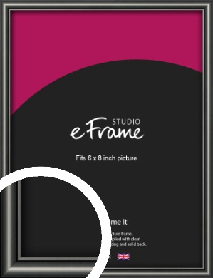 Simple Rounded Black Picture Frame, 6x8