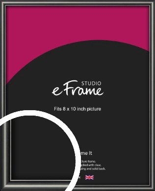 Simple Rounded Black Picture Frame, 8x10