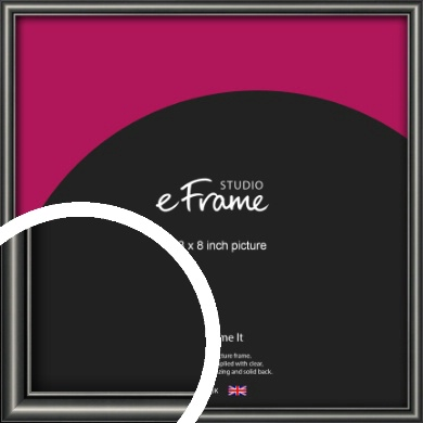 Simple Rounded Black Picture Frame, 8x8