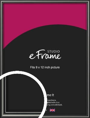 Simple Rounded Black Picture Frame, 9x12