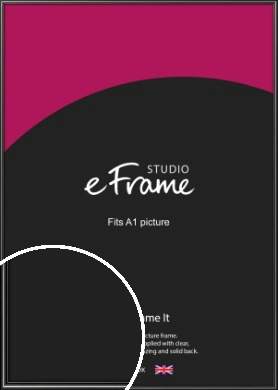 Simple Rounded Black Picture Frame, A1 (594x841mm) (VRMP-A047-A1)