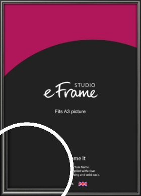 Simple Rounded Black Picture Frame, A3 (297x420mm) (VRMP-A047-A3)