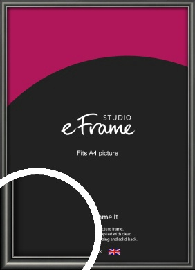 Simple Rounded Black Picture Frame, A4 (210x297mm) (VRMP-A047-A4)