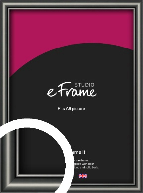 Simple Rounded Black Picture Frame, A6 (105x148mm) (VRMP-A047-A6)