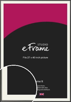 Simple Rounded Black Picture Frame & Mount, 27x40