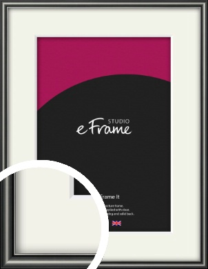 Simple Rounded Black Picture Frame & Mount (VRMP-A047-M)