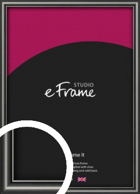 Simple Rounded Black Picture Frame (VRMP-A047)