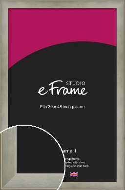 Classic Silver Picture Frame, 30x48