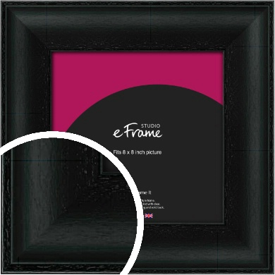 Smooth Scooped Black Picture Frame, 8x8