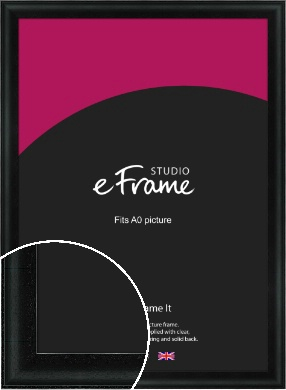 Smooth Scooped Black Picture Frame, A0 (841x1189mm) (VRMP-688-A0)