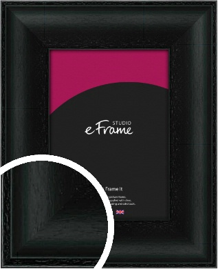 Smooth Scooped Black Picture Frame (VRMP-688)