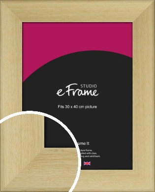 Scooped Natural Wood Picture Frame, 30x40cm (VRMP-791-30x40cm)