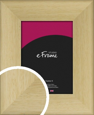 Scooped Natural Wood Picture Frame (VRMP-791)