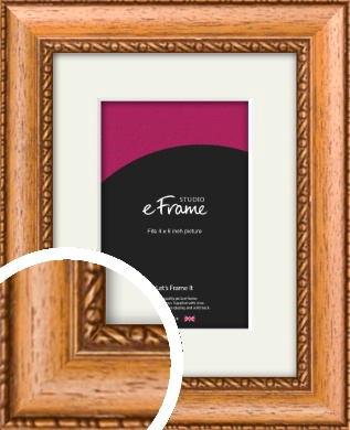 Fancy Honey Brown Picture Frame & Mount, 4x6