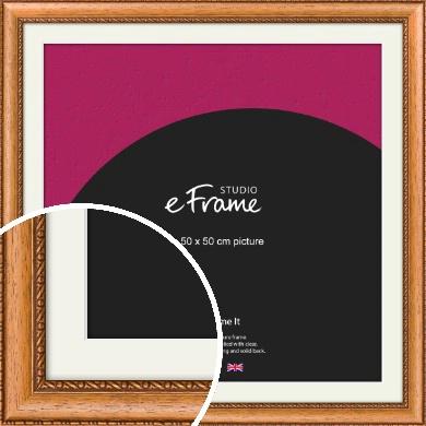 Fancy Honey Brown Picture Frame & Mount, 50x50cm (VRMP-402-M-50x50cm)