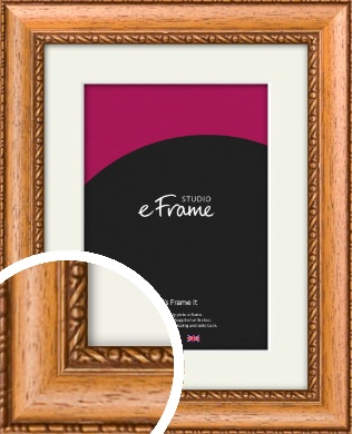 Fancy Honey Brown Picture Frame & Mount (VRMP-402-M)