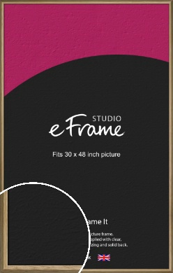 Rustic Classic Natural Wood Picture Frame, 30x48