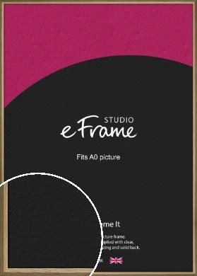 Rustic Classic Natural Wood Picture Frame, A0 (841x1189mm) (VRMP-793-A0)