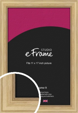 Exposed Grain Natural Wood Picture Frame, 11x17