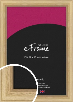 Exposed Grain Natural Wood Picture Frame, 12x18