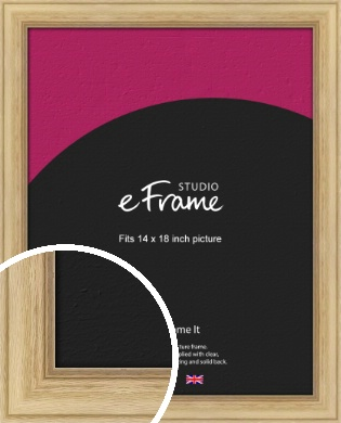 Exposed Grain Natural Wood Picture Frame, 14x18