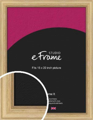 Exposed Grain Natural Wood Picture Frame, 15x20