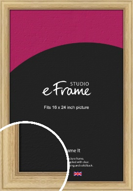 Exposed Grain Natural Wood Picture Frame, 16x24