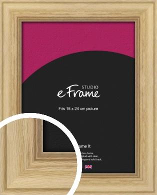 Exposed Grain Natural Wood Picture Frame, 18x24cm (VRMP-264-18x24cm)