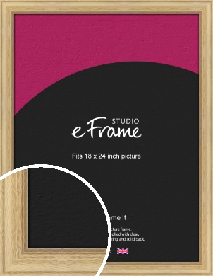 Exposed Grain Natural Wood Picture Frame, 18x24