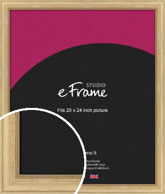 Exposed Grain Natural Wood Picture Frame, 20x24