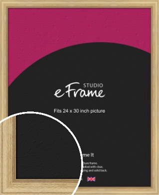 Exposed Grain Natural Wood Picture Frame, 24x30