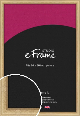 Exposed Grain Natural Wood Picture Frame, 24x36