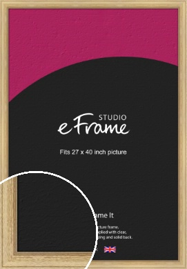 Exposed Grain Natural Wood Picture Frame, 27x40