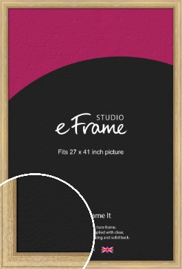 Exposed Grain Natural Wood Picture Frame, 27x41