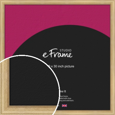 Exposed Grain Natural Wood Picture Frame, 30x30