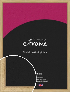 Exposed Grain Natural Wood Picture Frame, 30x40
