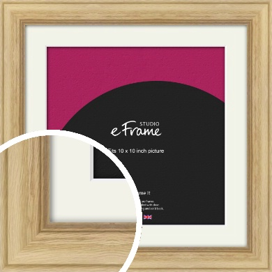 Exposed Grain Natural Wood Picture Frame & Mount, 10x10