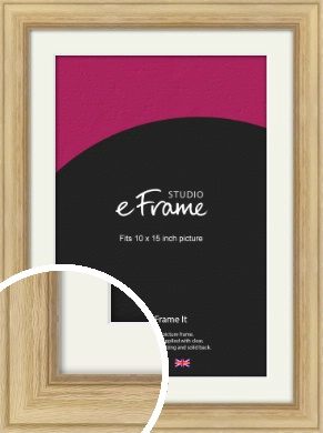 Exposed Grain Natural Wood Picture Frame & Mount, 10x15